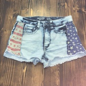 Patriotic Denim Shorts